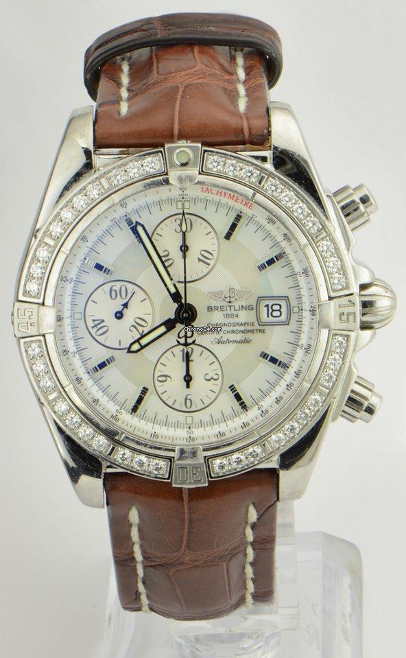 6531bb04356 Breitling Chronomat Evolution Original Diamond Bezel REF  A13356 for ...