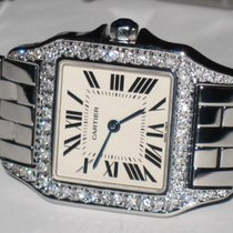 Cartier Santos Demoiselle Steel 26mm Silver Roman numerals United States of America, New York, NEW YORK CITY