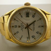 Rolex Date 1550 14k Ovetone 34mm Plated Auto Watch With Bracelet