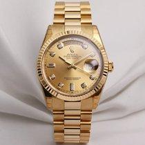 Rolex Unworn Full Set Rolex Day-Date 118238 Champagne Diamond...