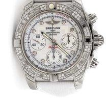 Breitling - Chronomat 41 Diamond Bezel White Dial - AB0140AF/A...