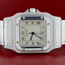 Cartier Santos Galbee Small 29mm Silver Roman Dial Steel...