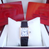Cartier Tank solid gold (papers) 18k folding clasp manual 1981