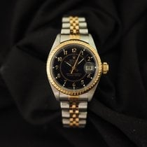 Rolex Oyster Perpetual Lady Date Acero y oro 26mm Azul