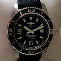 Breitling Superocean 44 stainless steel, rubber strap, new...