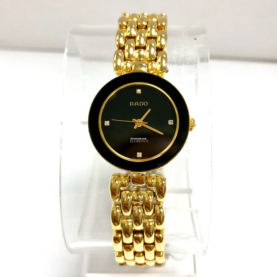 Rado Fact Gold Ladies Quartz Florence Watch Steel Electroplatedamp; XZiOkuP