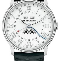 Blancpain Steel Automatic White Roman numerals 40mm new Villeret Moonphase