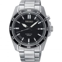 Seiko Kinetic SKA785P1 SEIKO SPORT Kinetic Acciaio Nero 42,6mm new