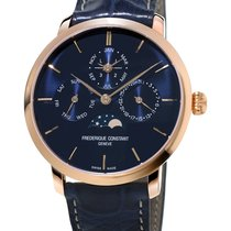 Frederique Constant Rose gold Automatic Blue 42mm new Manufacture Slimline Perpetual Calendar