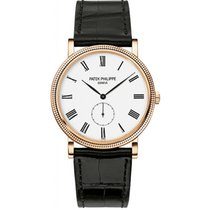 Patek Philippe Calatrava 36mm Rose Gold on Leather Strap...