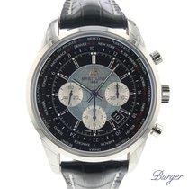 Breitling Chronograaf 46mm Automatisch 2015 nieuw Transocean Chronograph Unitime Zwart