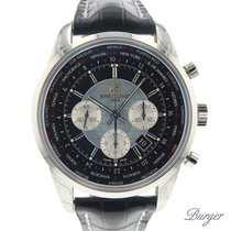 Breitling Transocean Chronograph Unitime Steel 46mm Black