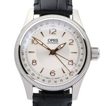 Oris Big Crown Pointer Date pre-owned 40mm Silver Date Leather