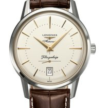 Longines 38.5mm Automatic 2019 new Flagship Heritage Silver