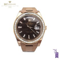 Rolex Day-Date 40 Rose gold 40mm Brown No numerals United Kingdom, London