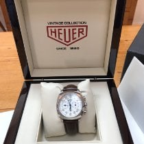 TAG Heuer Monza Steel 38mm White Arabic numerals