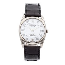 Rolex Cellini Danaos pre-owned 33mm White Crocodile skin