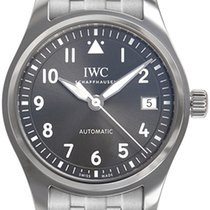 IWC Pilot's Watch Automatic 36 Aço 36mm Preto Árabes