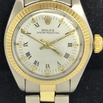 Rolex Oyster Perpetual 26 Guld/Stål 26mm Silver Inga siffror