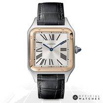 Cartier Santos Dumont Золото/Cталь 43mm Белый Римские