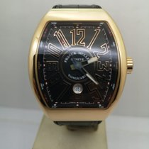 Franck Muller Yellow gold Automatic Black pre-owned Vanguard