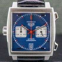 TAG Heuer Monaco Calibre 11 Steel 39mm Blue Arabic numerals United States of America, Massachusetts, Boston