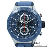 TAG Heuer Carrera Calibre HEUER 01 pre-owned 43mm Chronograph Date Rubber