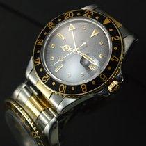 Rolex GMT-Master Or/Acier 40mm Noir Sans chiffres