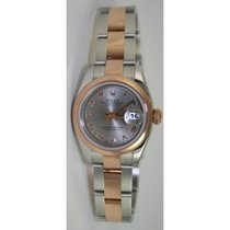 Rolex Datejust 179161 Lady's Steel and Rose Gold Oyster Band...