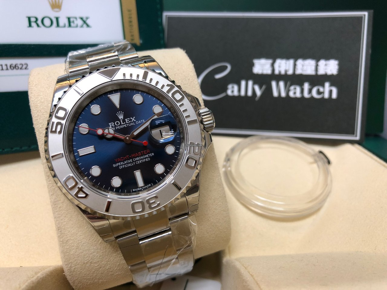Rolex Cally 116622 Yacht Master Blue Dial 40mm New