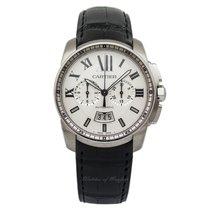 Cartier Calibre de Cartier Chronograph Stahl 42mm Weiß