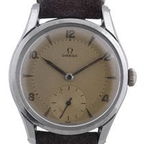 Omega Champagne Dial Screw Back Case Stainless Steel