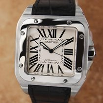 Cartier Santos 100 Jumbo Stainless St 39mm Automatic Luxury...