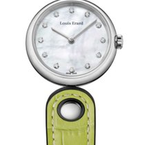Louis Erard ROMANCE 4 SEASONS Quartz Pearl Dial Green Leather...