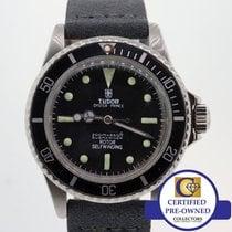 Tudor 1970 VTG  Lollipop Submariner Steel Matte Black Prince...