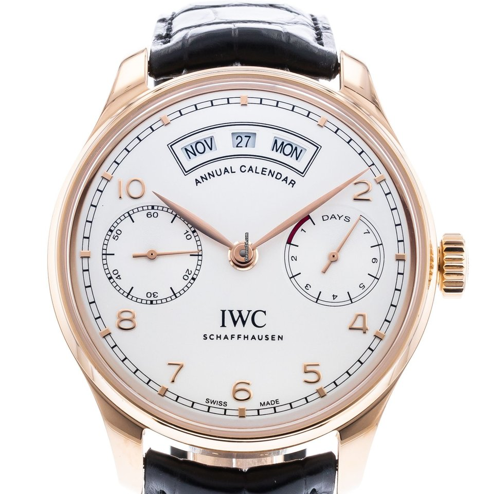 2d4279271a6 IWC Portuguese Annual Calendar Watches for Sale - Find Great Prices on  Chrono24