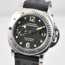 Panerai Luminor Submersible Acero 44mm Negro Árabes