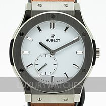 Hublot Classic Fusion Ultra-Thin pre-owned 45mm White Leather