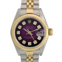 Rolex Lady-Datejust Gold/Stahl 26mm Violett