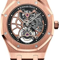 Audemars Piguet Royal Oak Tourbillon Roségoud 41mm Doorzichtig Geen cijfers