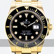 Rolex Submariner Date Yellow gold 40mm Black