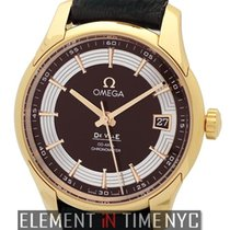 Omega Rose gold Automatic Brown 41mm new De Ville Hour Vision