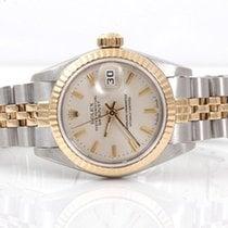 Rolex Ladies 18K/SS Datejust - Silver Stick Marker Dial - 69173