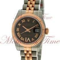 Rolex Lady-Datejust Acero y oro 26mm Marrón Romanos