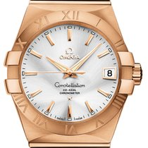 Omega Constellation Men Rose gold 38mm Silver United States of America, New York, Airmont