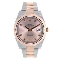 Rolex DATEJUST 41 Steel 18K Rose Gold Sundust Diamond Dial 126331