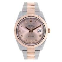 Rolex DATEJUST 41 Steel 18K Rose Gold Sundust Diamond Dial 126331