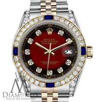 Rolex Lady-Datejust Acero y oro 26mm Rojo