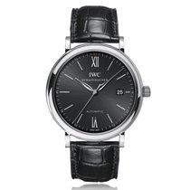 IWC Schaffhausen Portofino Automatic Black 40mm Mens Watch...