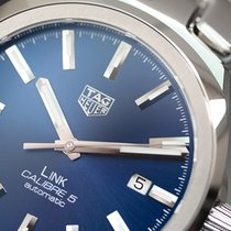TAG Heuer Men's Link Calibre 5 Automatic 41mm Steel  Blue...